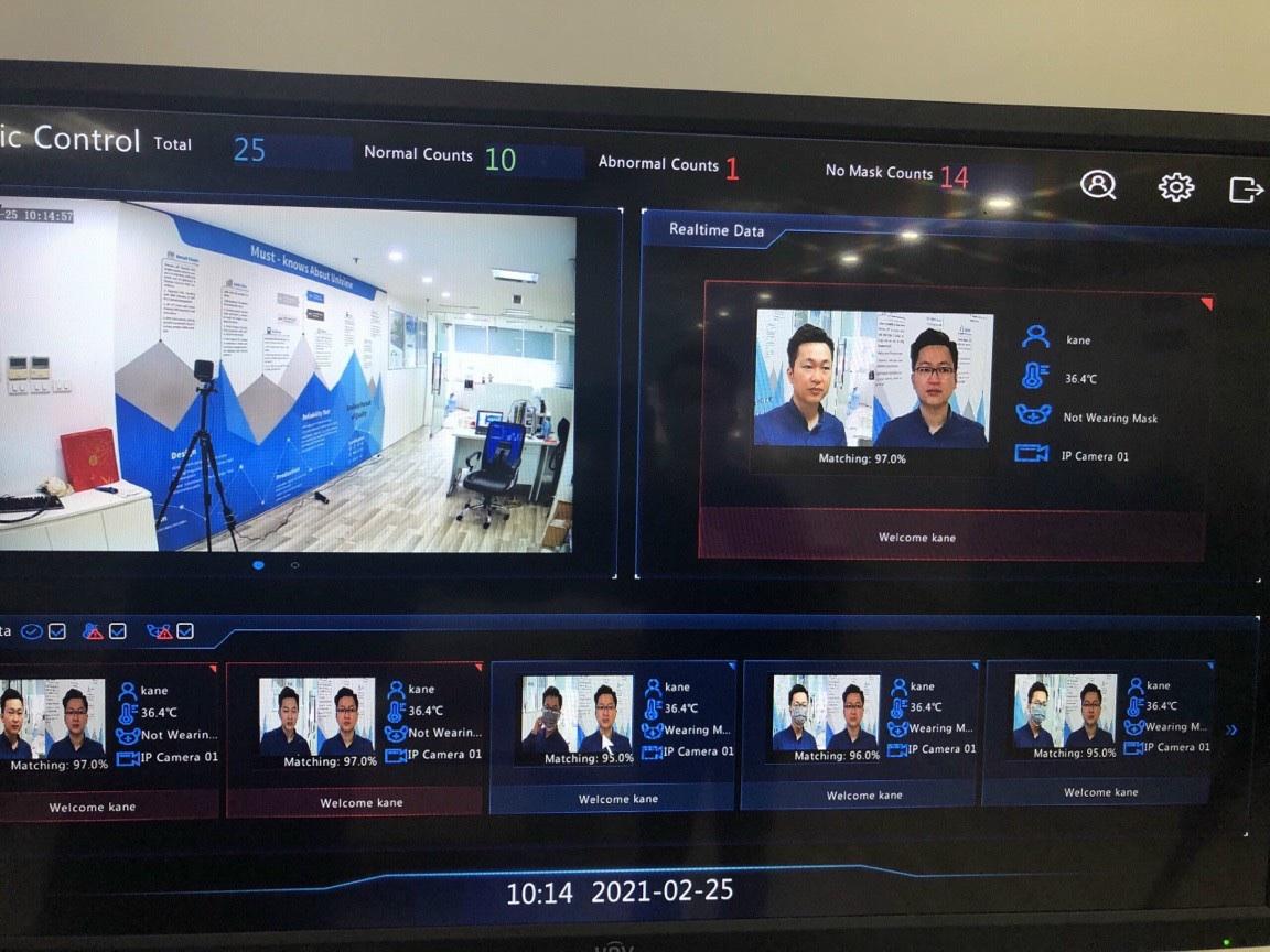Hoàn thành lắp đặt tích hợp Hệ thống chấm công kiểm soát vào ra bằng Nhận diện khuôn mặt cho một số Đơn vị Tại Hà Nội, Nghệ AN ( An toàn mùa dịch)